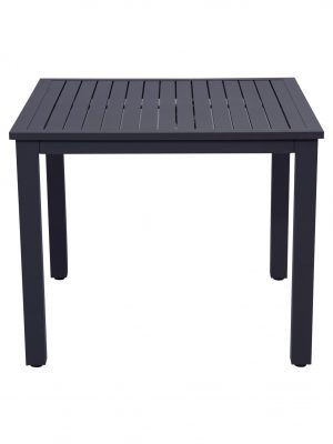 Slat Aluminium Dining Table Charcoal