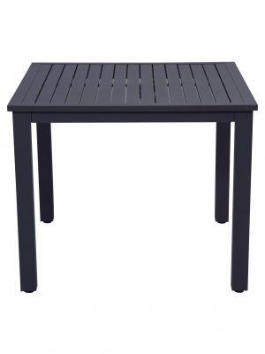 Slat Aluminium Dining Table Charcoal