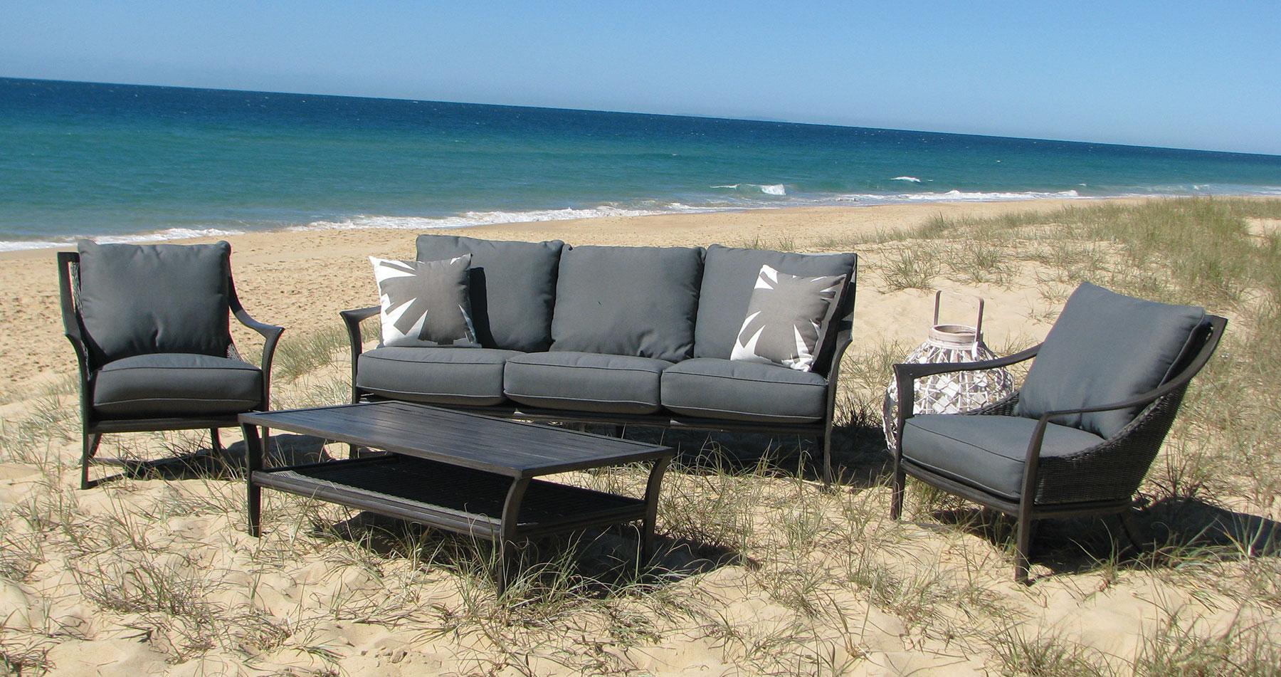 Beachcomber wicker outdoor furniture setting