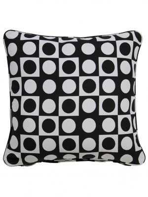Colva Black Throw Cushion