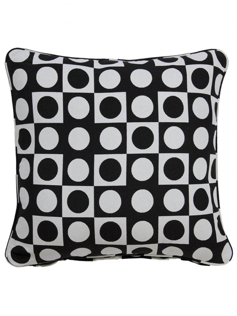 Colva Black Outdoor Throw Cushion Embellish Imports