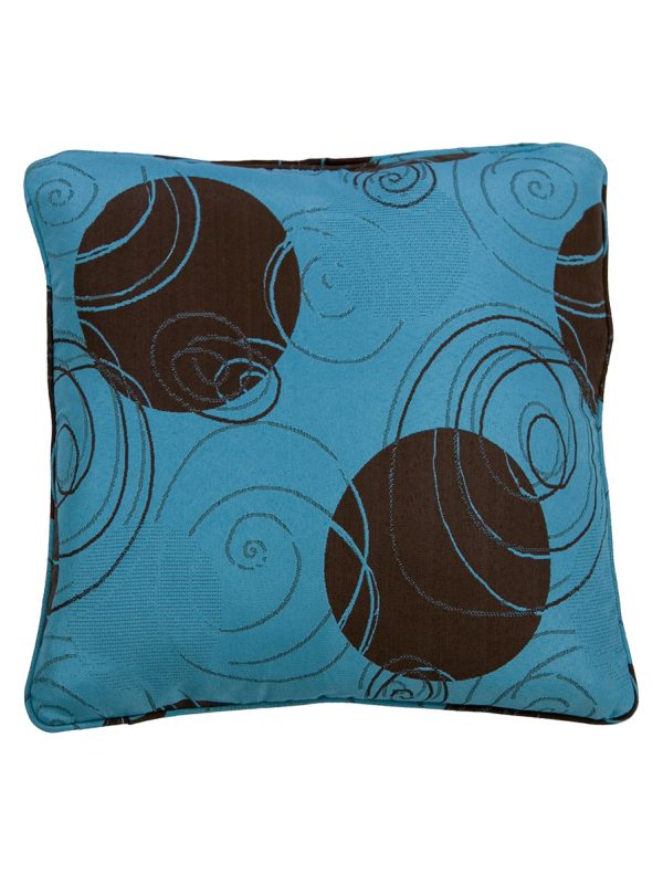 Gingerole Aqua Throw Cushion