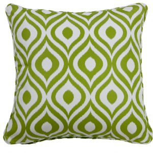 Pinamar Green Outdoor Throw Cushion