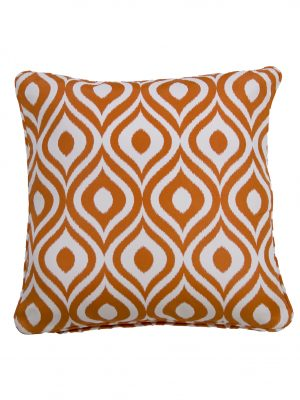 Pinamar Orange Throw Cushion