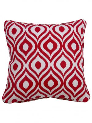 Pinamar Red Throw Cushion
