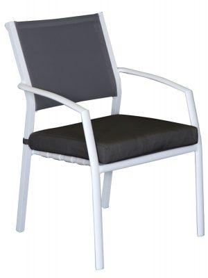 Sierra Aluminium Outdoor Dining Cushion Chair