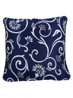 Vielle Navy Outdoor Throw Cushion