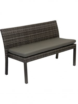 Villa 1300 Wicker Outdoor Bench Granite