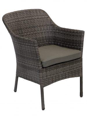 Villa Tub Wicker Outdoor Chair Granite