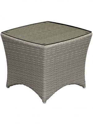 Boat Wicker Side Table