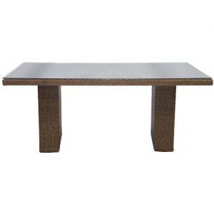 Wicker Three Quarter Sofa Table