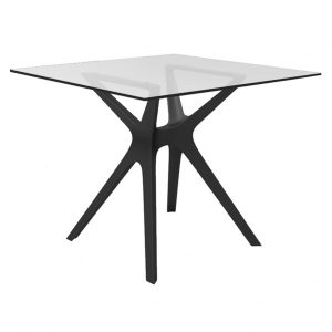 Vela Resin Glass Table Outdoor Scand