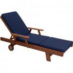 Navy Sunlounge Cushion