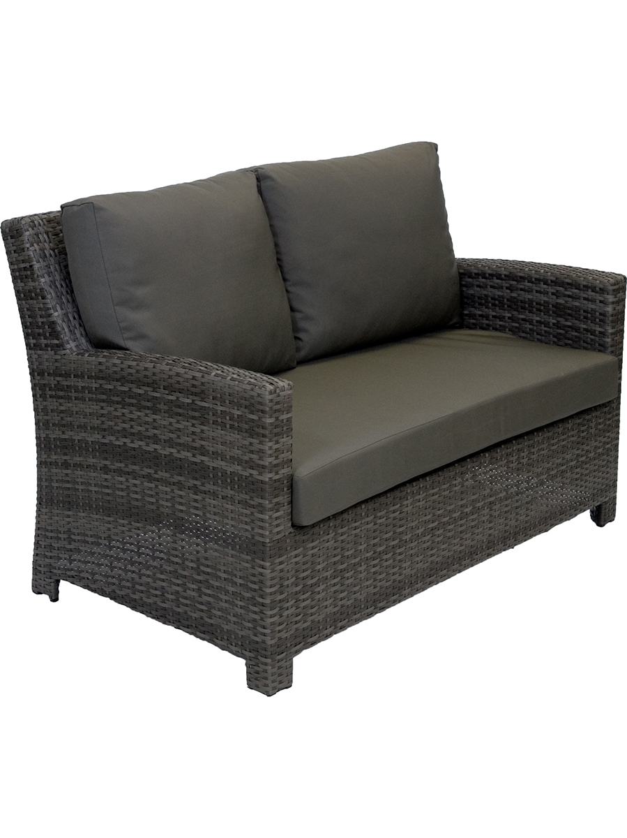 Delightful Casablanca Two Seater Wicker Outdoor Sofa. Wicker Sofa Couch Outdoor  Furniture Grey