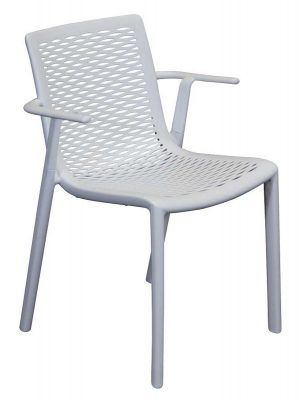 Netkat Resin Armchair White commercial outdoor furniture