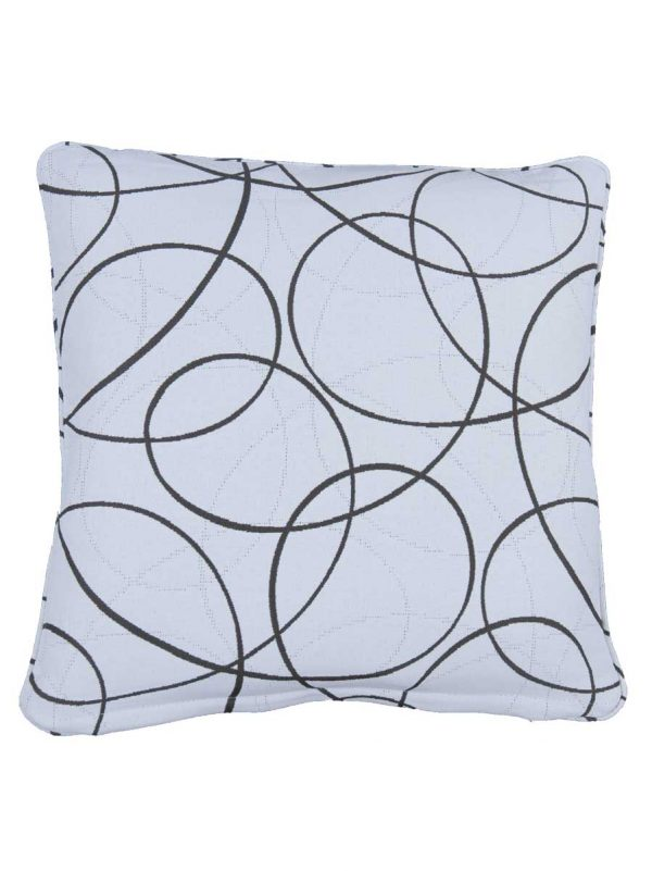 Laytown White Small Outdoor Throw Pillow