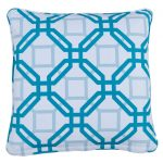Natadola Aqua Small Outdoor Throw Pillow