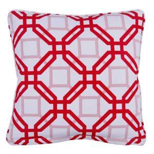 Natadola Red Outdoor Throw Pillow