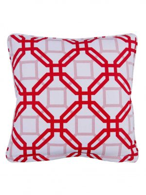 Natadola Red Outdoor Throw Pillow