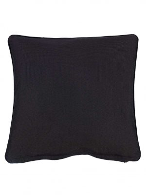 Wifera Black Small Outdoor Throw Pillow Cushion