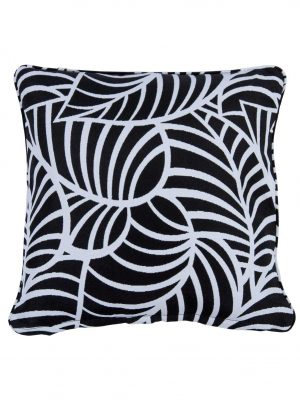 Coronado Black Small Outdoor Throw Pillow cushion