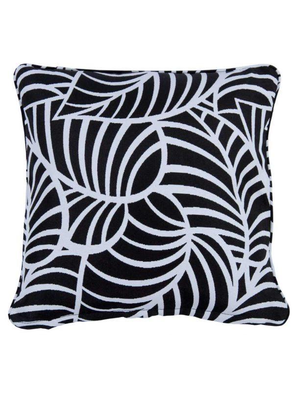 Coronado Black Small Outdoor Throw Pillow cushion