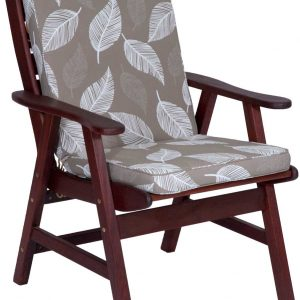 Camburi Tan High Back Chair Cushion