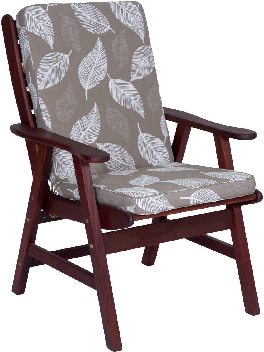 Camburi Tan High Back Chair Cushion