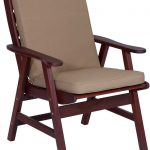 Hazelnut High Back Chair Cushion