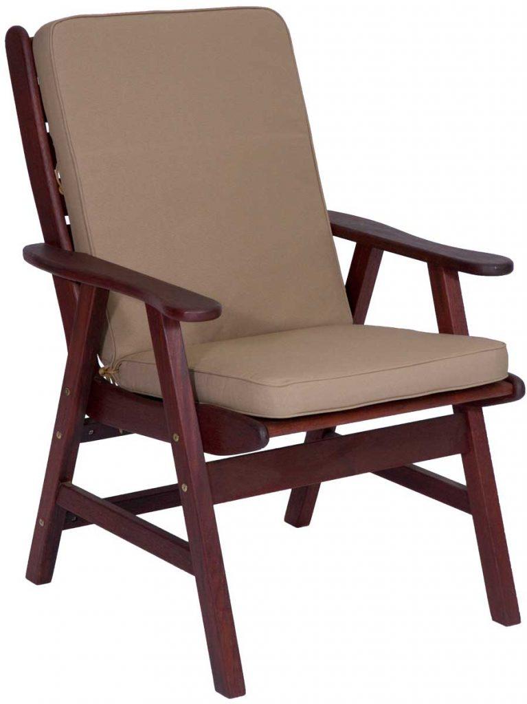 Hazelnut High Back Chair Cushion