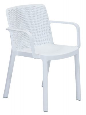 Resin armchair white Cafe commercial