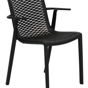 Netkat Resin Armchair Black plastic outdoor chair furniture