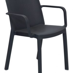Fresh Resin Armchair Grey Outdoor Dining Commercial grade