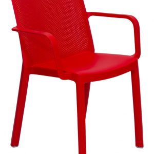 Fresh Resin armchair Red outdoor dining strong