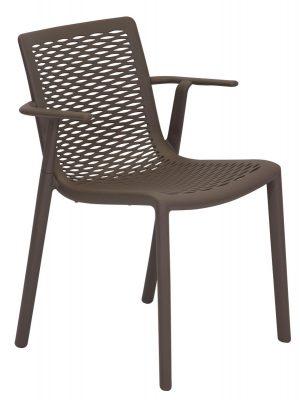 Netkat Resin Armchair Chocolate outdoor Furniture
