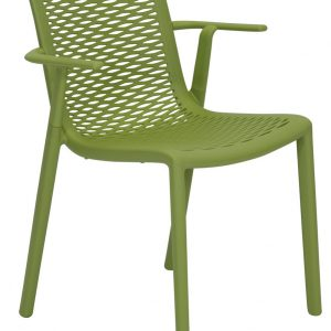 Netkat resin Armchair Olive commercial cafe chair