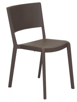 Spot Resin Cafe Chair Chocolate