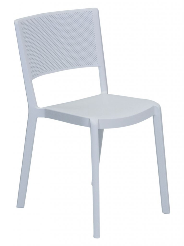 Spot Resin Cafe Chair White Outdoor