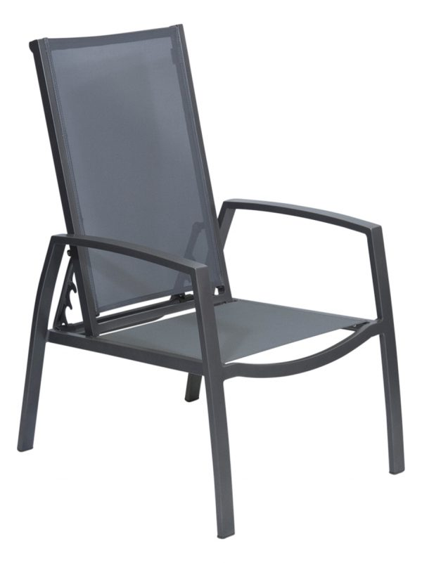 Salsa 3 Position Outdoor Reclining Chair Gunmetal