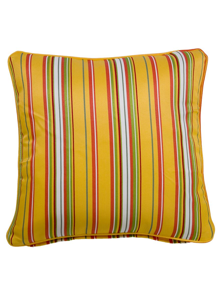 Albena Yellow Large Outdoor Throw Cushion