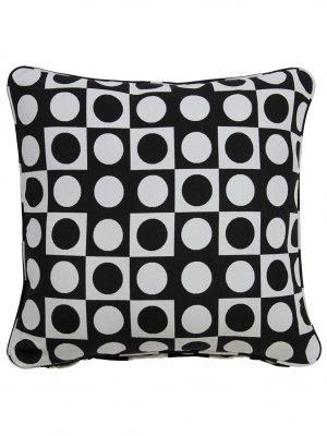 Colva Black Throw Cushion