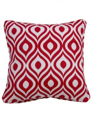 Pinamar Red Throw Cushion