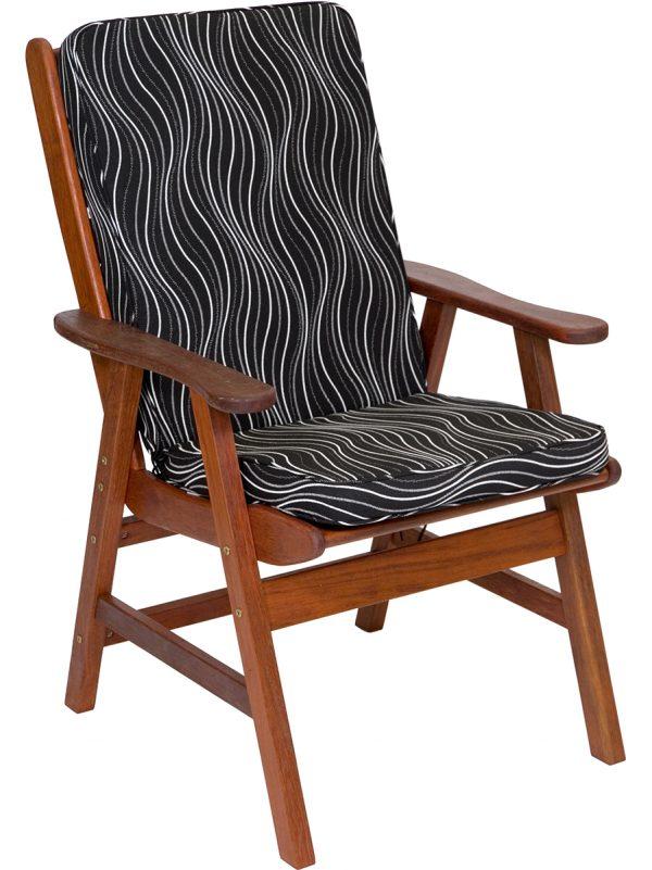 Black Windsor High Back Cushion