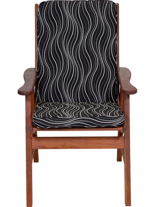 Black Windsor Low Back Cushion