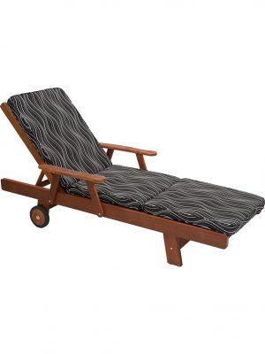 Black Windsor Sunlounge Cushion