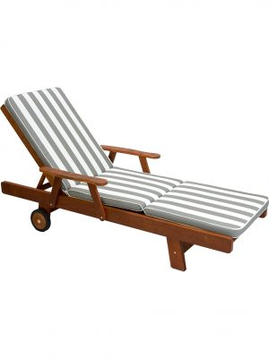 Grey Stripe Sunlounge Cushion