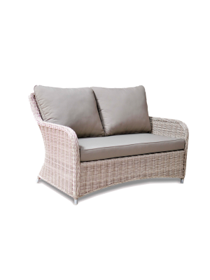 Fraser Colonial two seat Sofa Rattan Garden Outdoor Furniture