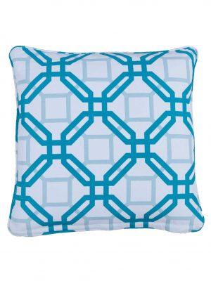 Natadola Aqua Small Outdoor Throw Pillow