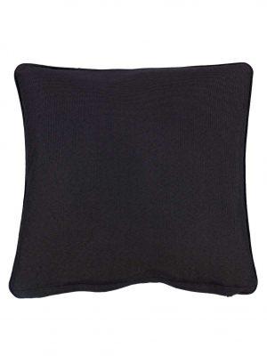 Wifera Black Small Outdoor Throw Pillow Cushion
