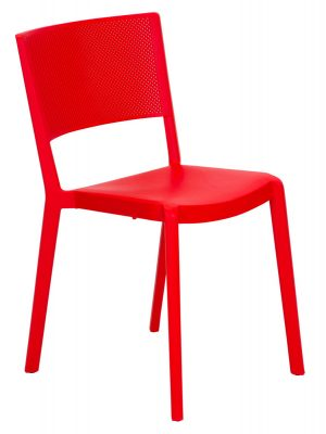 Spot Resin Cafe Chair Red Commercial furniture Outdoor